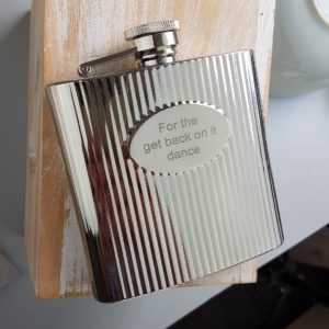6oz Ribbed Engraved Hip Flask with Free Engraving