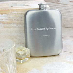 Personalized Distressed Cushion Hip Flask