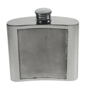 Personalized 4 oz Barley Pewter Kidney Hip Flask