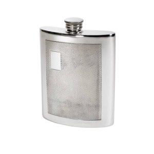 Personalized 6 oz Barley Pewter Kidney Hip Flask