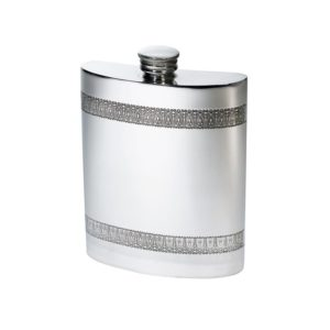 Personalized 6 oz Gothic Bands Pewter Kidney Hip Flask