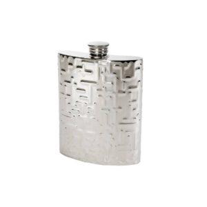 Personalized 6 oz Metropolitan Pewter Kidney Hip Flask