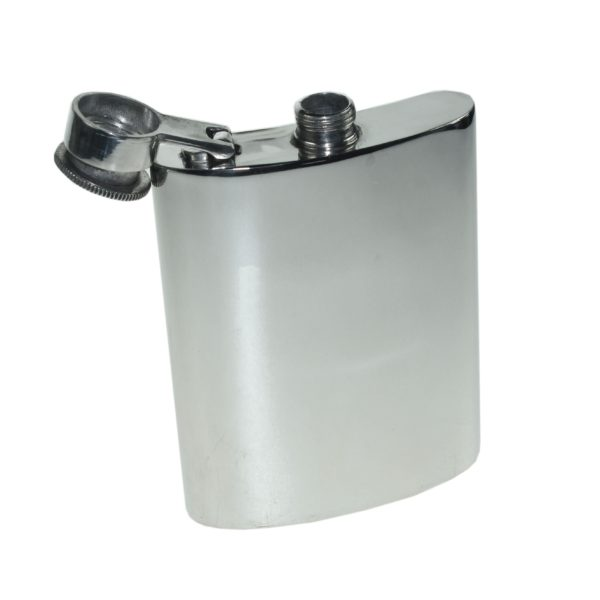 Personalized 6 oz Plain Pewter Kidney Hip Flask with Captive Top