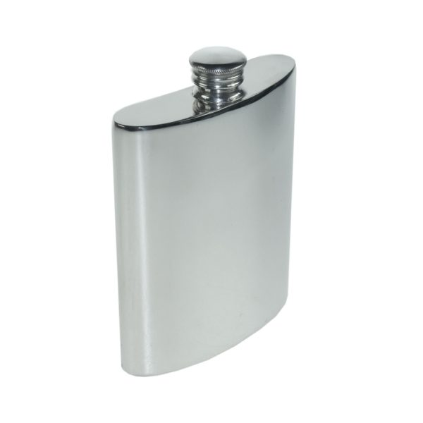 Personalized 6 oz Plain Pewter Kidney Hip Flask