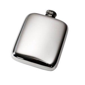 Personalized 4 oz Plain Pewter Pocket Hip Flask