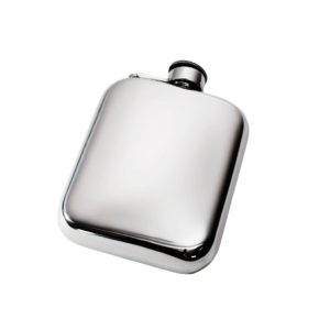 Personalized 6 oz Plain Pewter Pocket Hip Flask with Captive Top