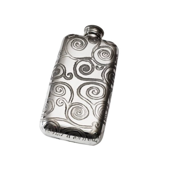 Personalized 3 oz Tree of Life Pewter Pocket Flask
