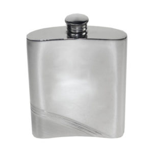 Personalized Diagonal Stripe Hip Flask with Free Engraving