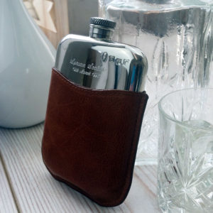 Personalized Leather Hip Flask with Gift Box, Free Engraving and Free Hip Flask Funnel