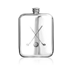 Golf Clubs Engraved Hip Flask with Free Engraving