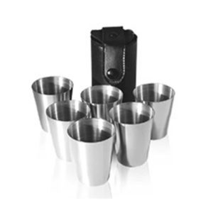 Set of Six Cups - Hip Flask Accessory