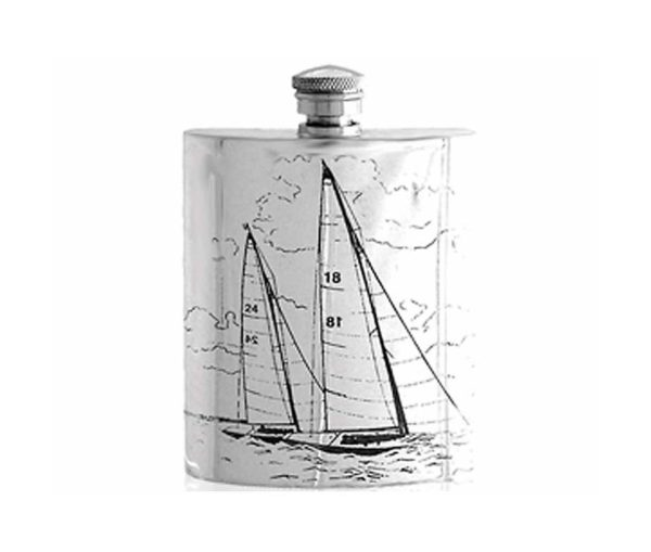 Sailing Engraved Hip Flask with Free Engraving