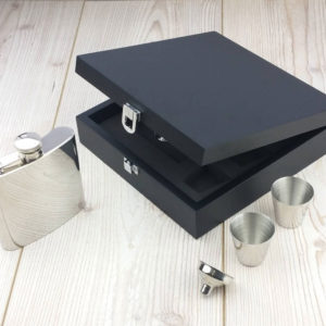 Personalized Luxury Hip Flask Presentation Set