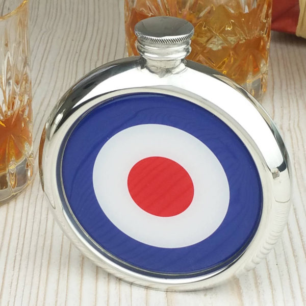 Personalized Mod Hip Flask with Presentation Box and Free Engraving