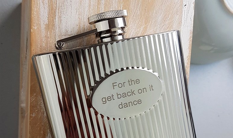 Free Hip Flask Engraving - Personalized Hip Flasks UK