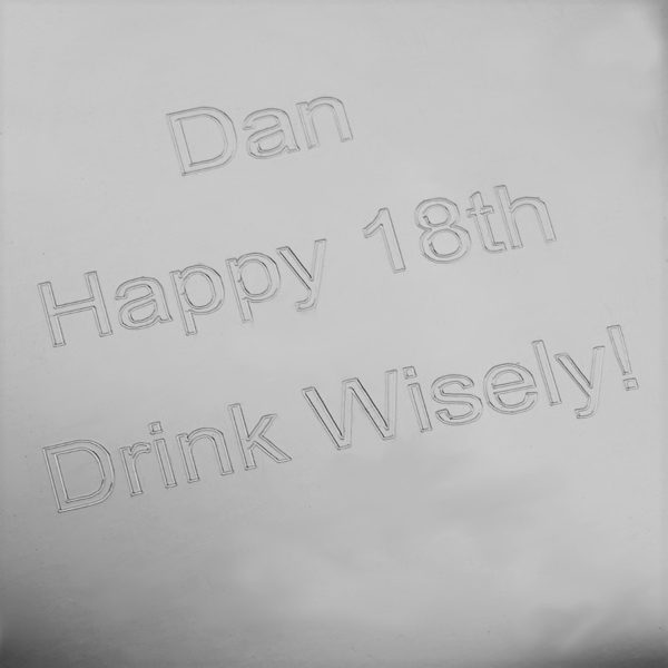 Personalized 21st Birthday Hip Flask