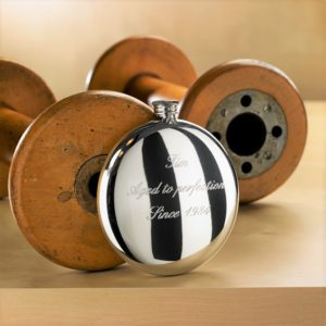 Personalized Engraved Round Hip Flask