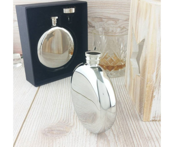 Ultimate Personalized Round Hip Flask With Free Engraving