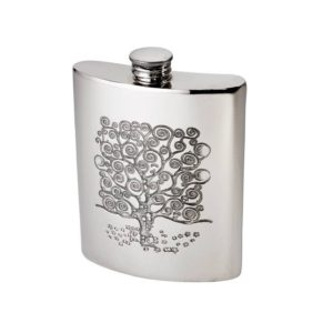 Personalized 6 oz Tree of Life Tree Pewter kidney Hip Flask