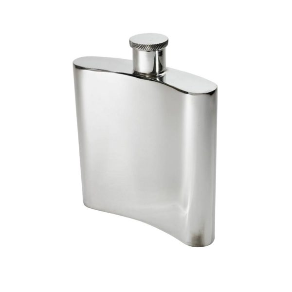 Personalized 26 oz Giant Plain Pewter Kidney Hip Flask